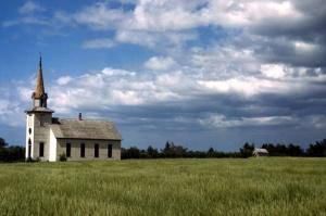 fsac.1a34277      John Vachon    1942 or 1943       Church near Junction City, Kansas