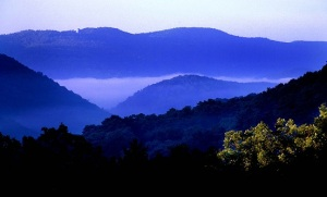 """Mountain overlook of the """"Smoke Hole"""" area in Grant County West Virginia view from North Fork Mountain"""